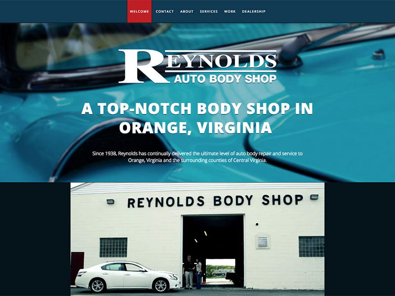 Reynolds Auto Body Shop Portfolio Item Thumbnail